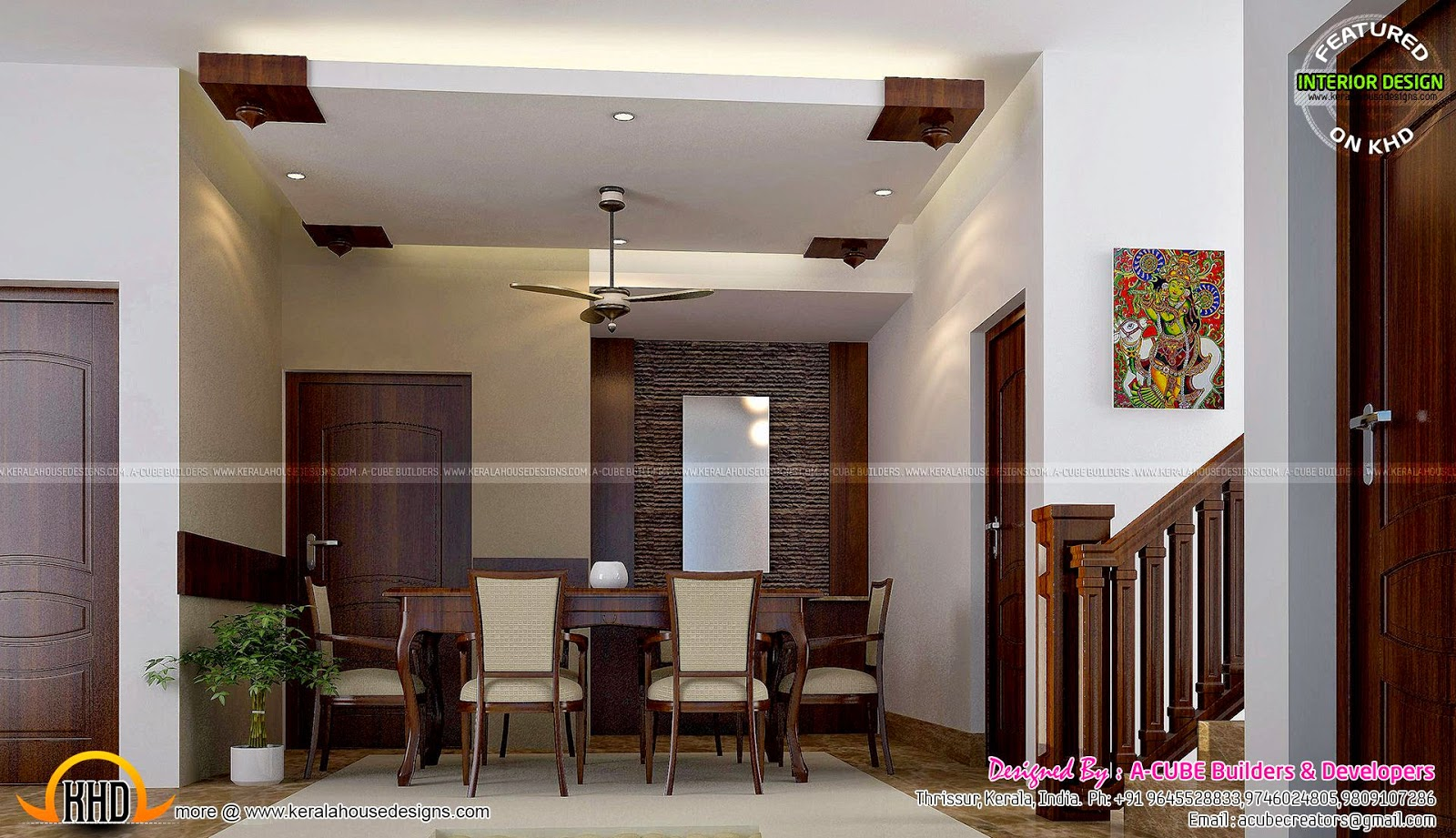 January 2015 kerala home design and floor plans for Dining room designs kerala