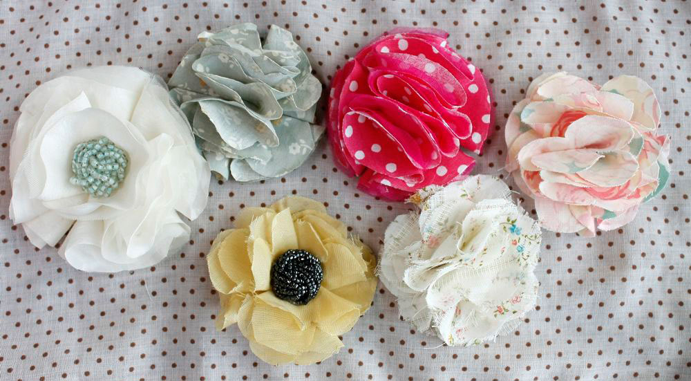 how to make ribbon flowers without sewing