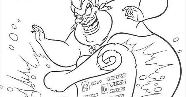 ursula little mermaid coloring pages - photo#33