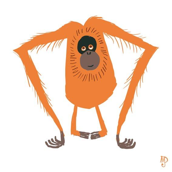 Orangutan Cartoon Matt Dawson: si...