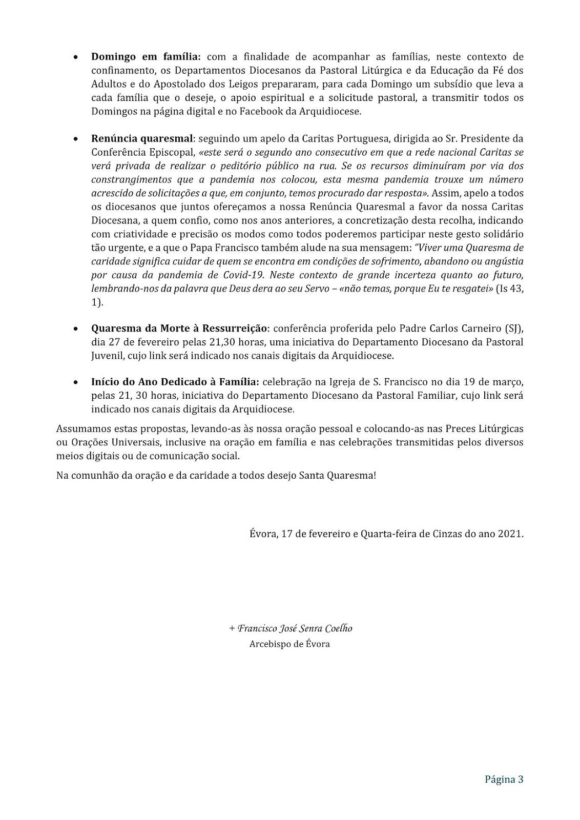 MENSAGEM PARA A QUARESMA - 3/3