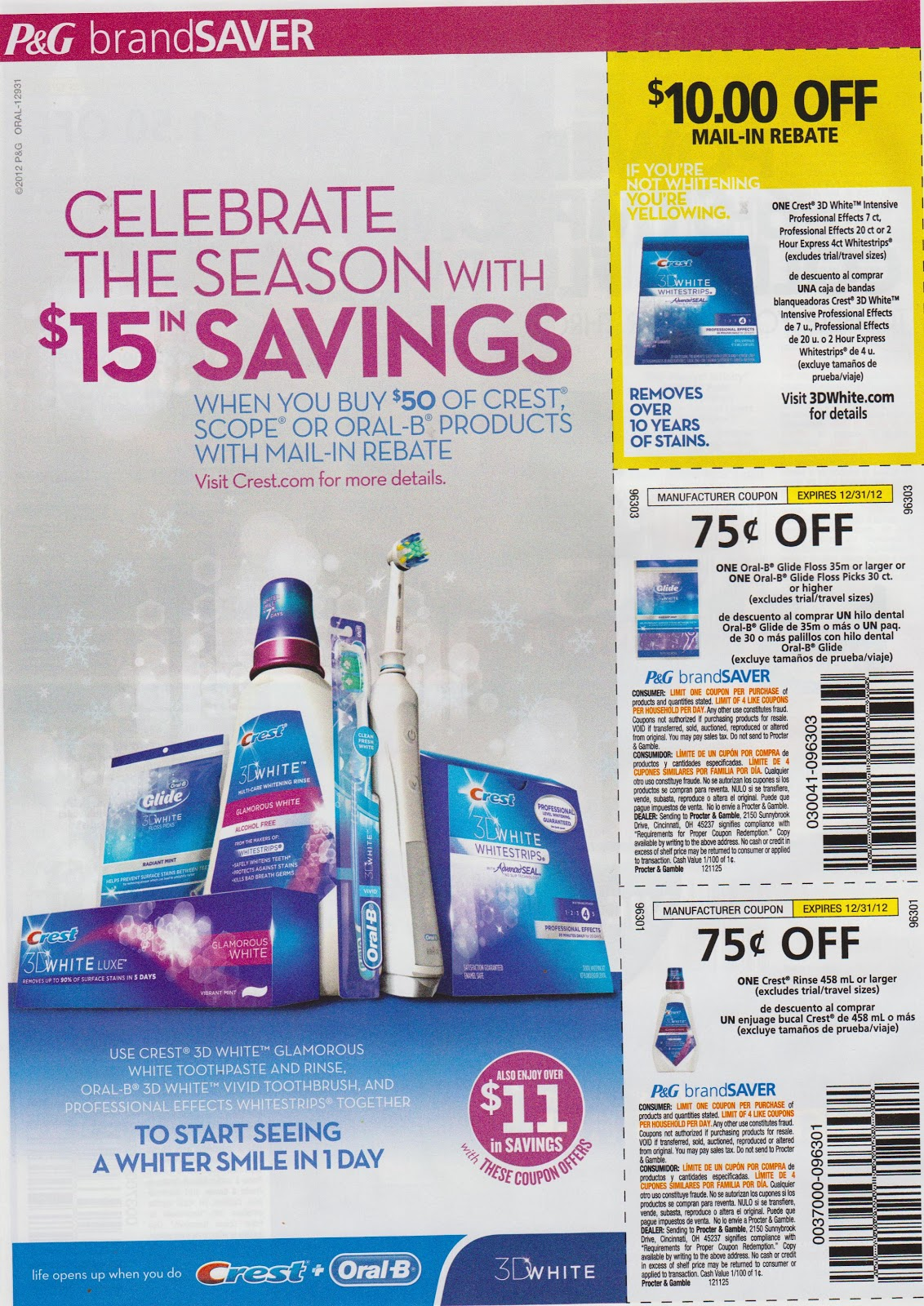 Kayla's Bulk Coupon Inserts: SOLD OUT 11/25 P&G Proctor ...
