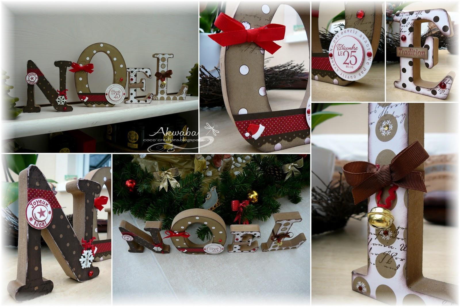 Coco cr ations joyeux no l - Lettre de decoration ...