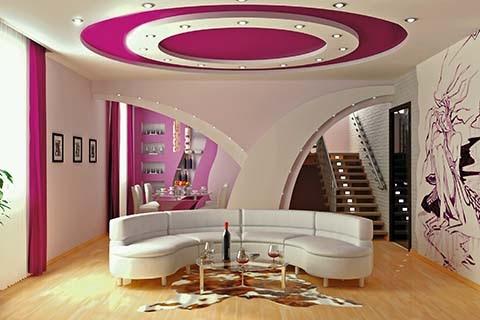 Servicios de remodelacion de interiores y exteriores en for Plafones decorativos pared
