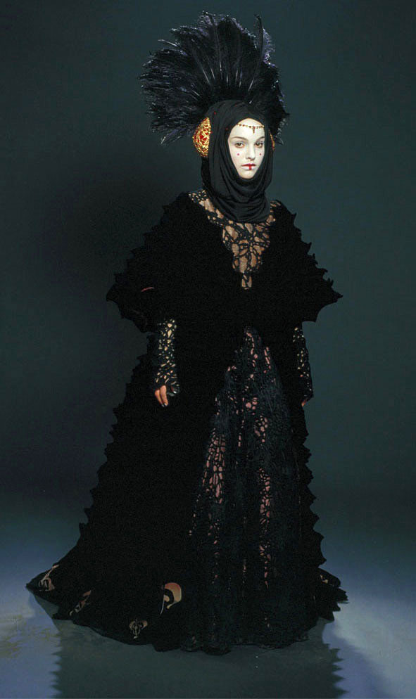Despite what the promotional pictures might lead you to believe Padme never actually wears the gown. This is worn exclusively by Sabe acting out as decoy ...  sc 1 st  The costume vault & A look into Star Wars: Padmeu0027s Dresses. Annex A