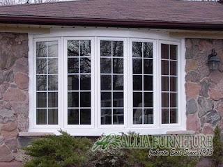 Bow window jendela rumah model melengkung