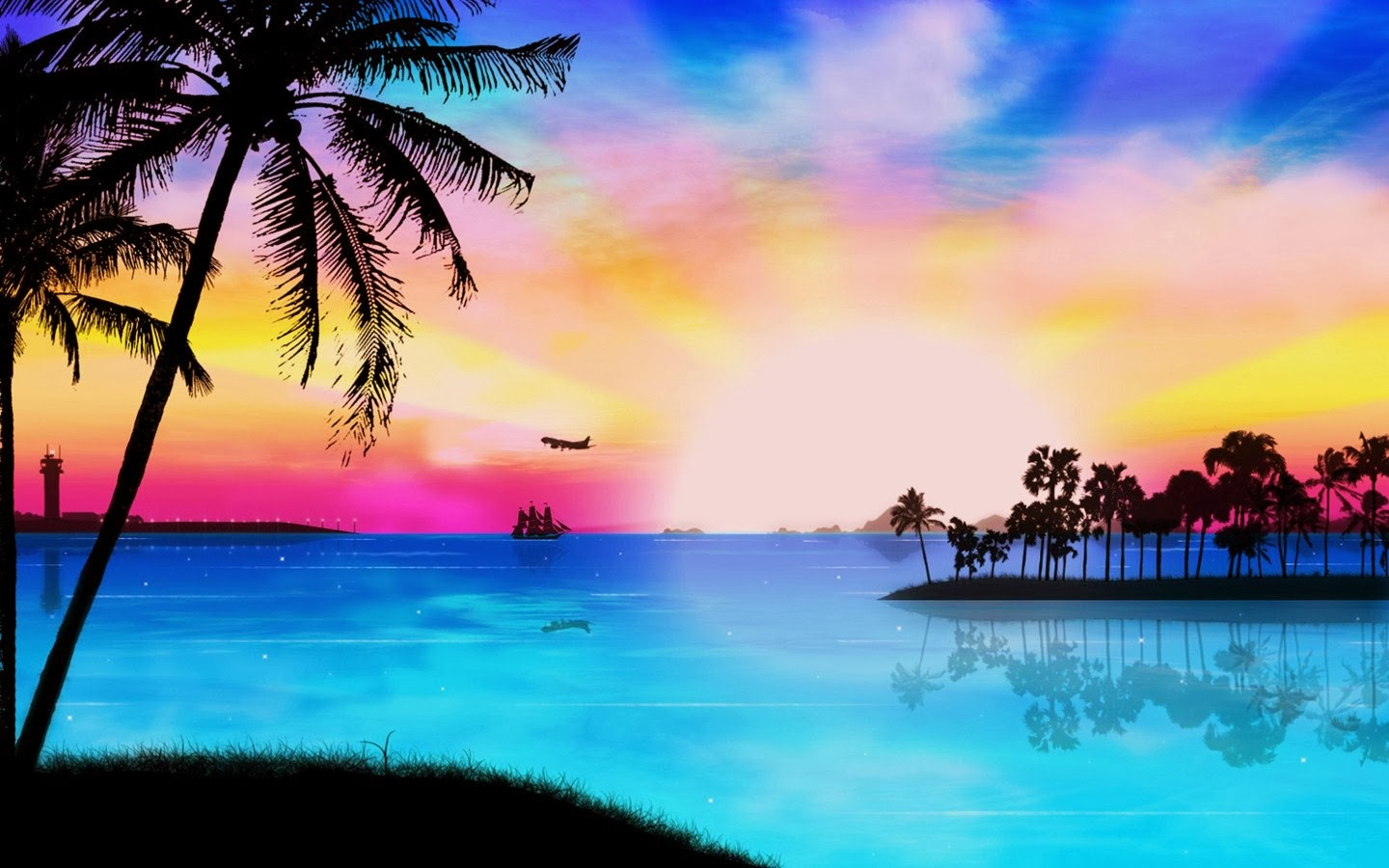 Tropical beach wallpapers most beautiful places in the for Beautiful wallpapers for lounges