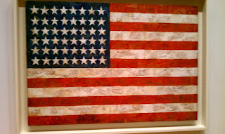 Jasper Johns Flag 1954 Mike Slobot's Robot Art Blog