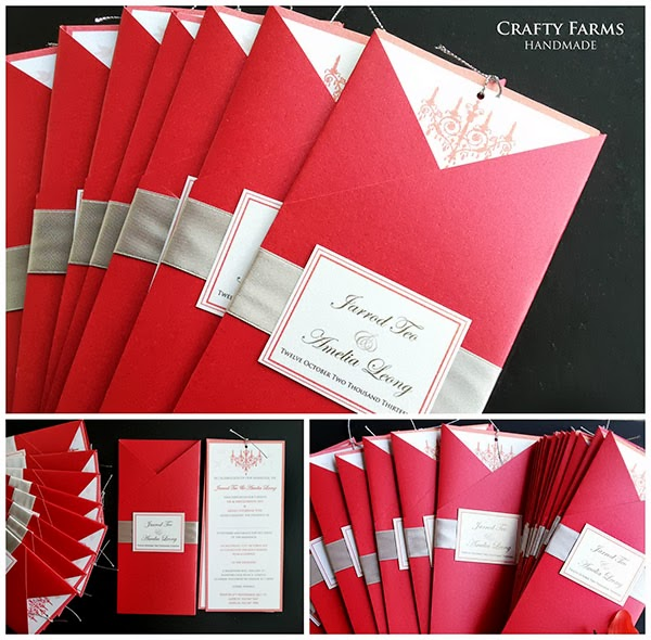 Wedding Card Malaysia – Red and Silver Wedding Invitations