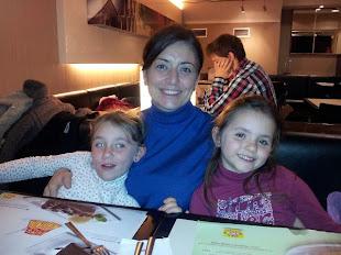 con mis hijas
