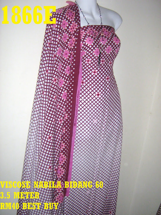 VN 1866E: VISCOSE NABILA BIDANG 60 INCI, 3.5 METER