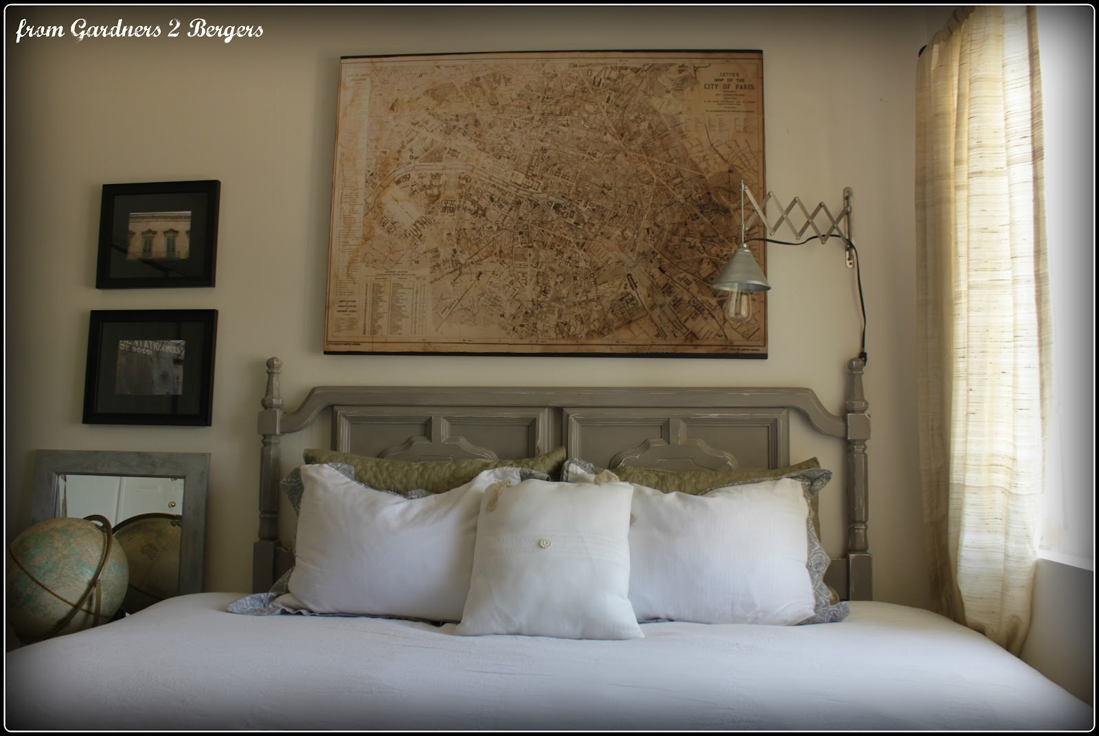 bergers restoration hardware decoupage map knock off