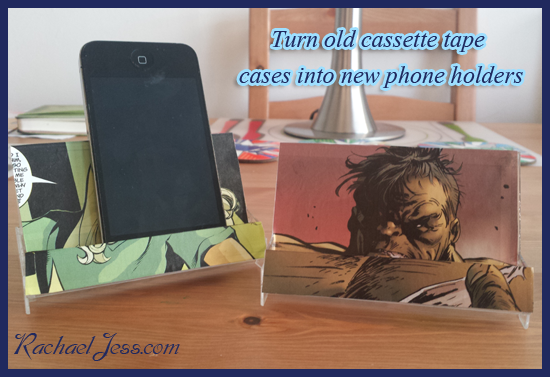 The cases are an ideal size to turn into phone holders.  The fronts bend right back which make the perfect stand.  All you need to do is find an image from a magazine, comic, wallpaper... whatever takes your fancy really and trace round the box and stick to the plastic.