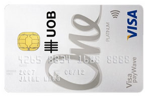 UOB One Visa cards
