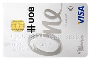 UOB One Visa cards