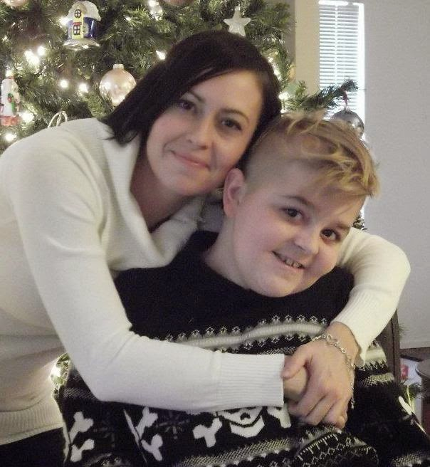 photo of holly with her son nathan