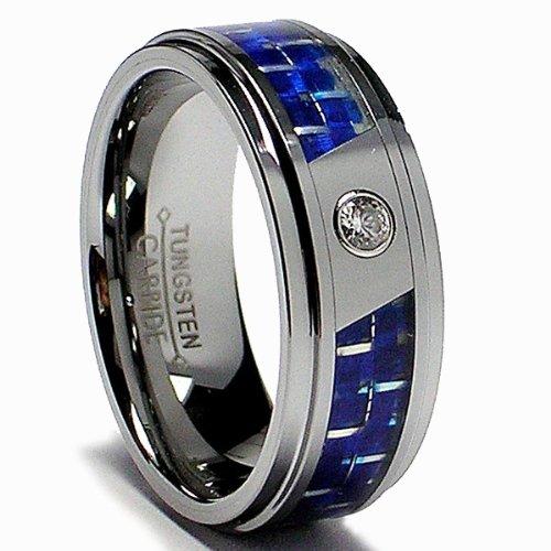 Men 39 S Tungsten Carbide Ring Elegant Rings