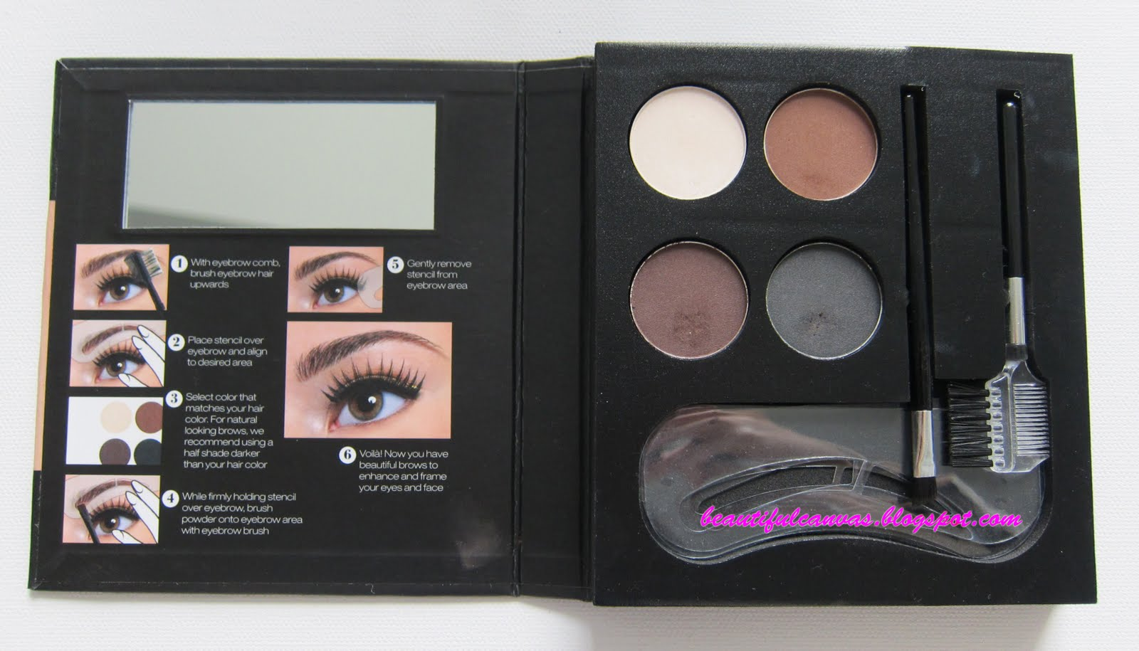 BEAUTIFUL CANVAS: NYX Eye Brow Kit with Stencil Review and