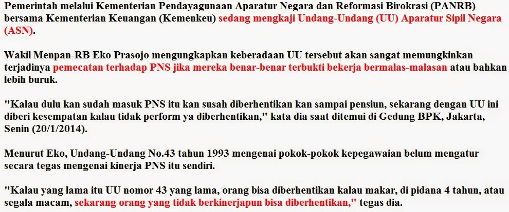 Gaji PNS naik, Kinerja PNS buruk, Kesejahteraan PNS