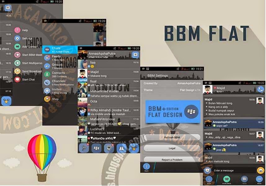 Download BBM Flat+ui Apk