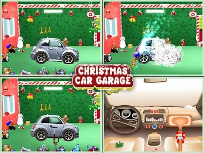 christmas car garage