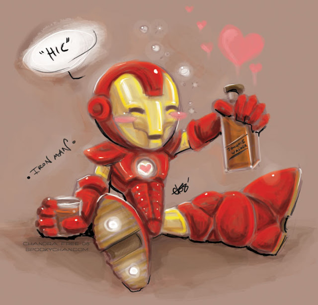 Iron Man the Chibi por SpookyChan