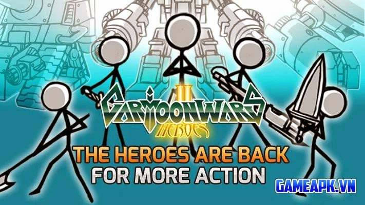 Cartoon Wars 2 v1.0.7 hack full tiền cho Android