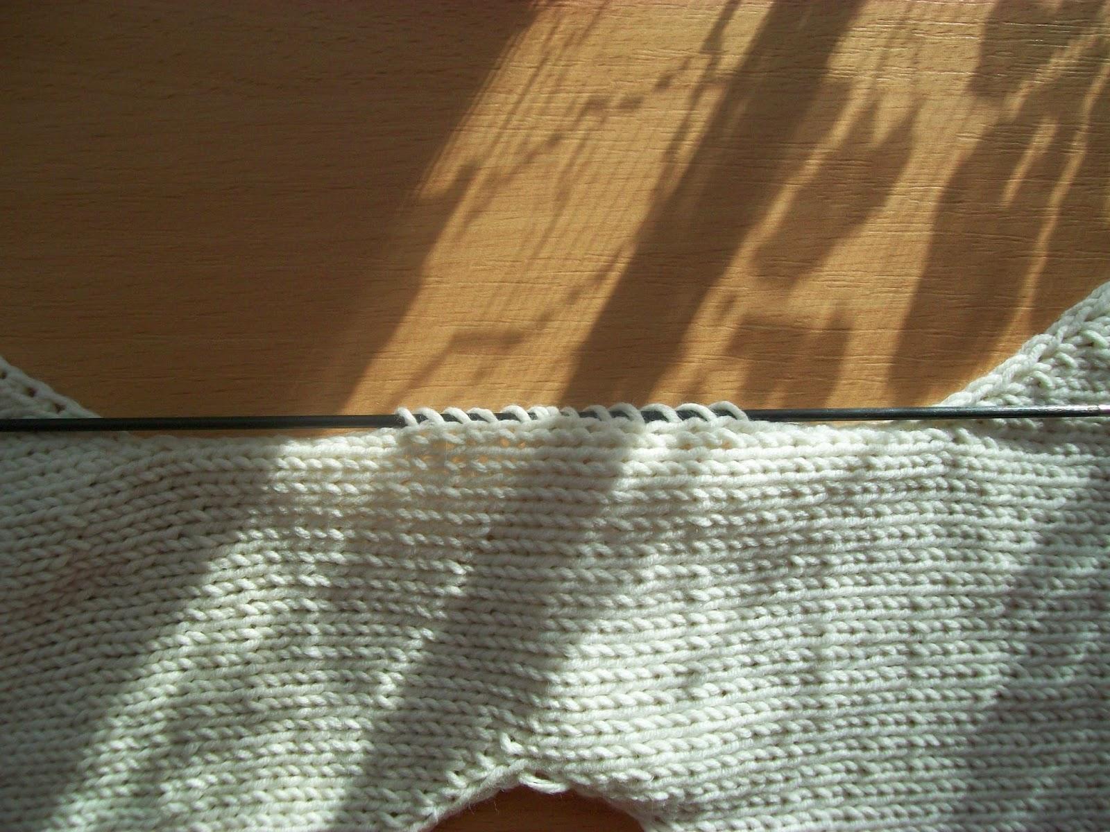 Вязание сверху имитация вшивного рукава 34