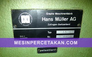 Muller Martini SADDLE STICHER MACHINE