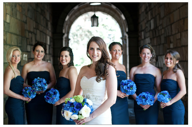 sweet pea floral design michigan wedding flowers brides bouquet blue anemone hydrangea ranunculus green freesia hellebore michigan union ballroom