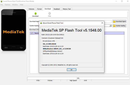 MediaTek SP Flash Tool v5.1548 Latest Version