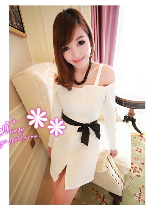 Busana: Dress Cotton Pita Hitam (BSF-257)