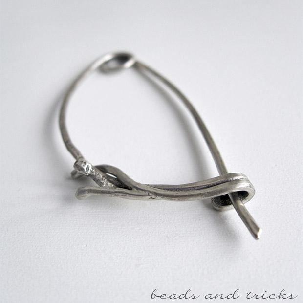 Spilla da scialle fibula in argento