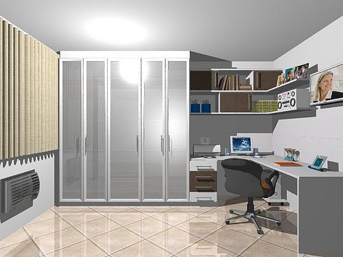 Ambientes & Ideias Home Offices ~ Quarto Planejado Com Nichos