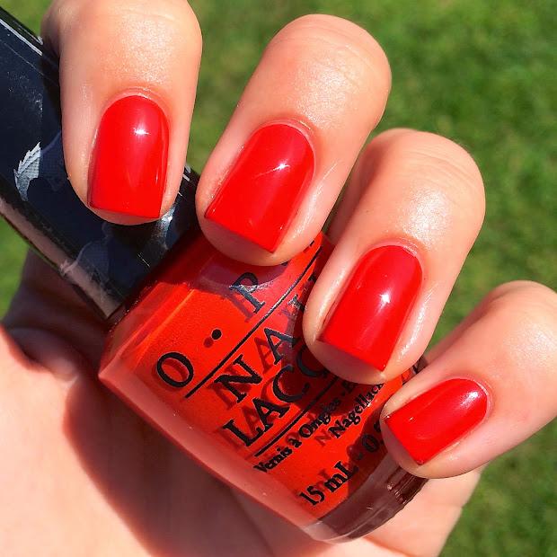 nails polished opi race