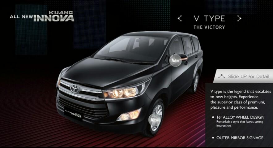 All New Kijang Innova Type V Harga Toyota Auto 2000