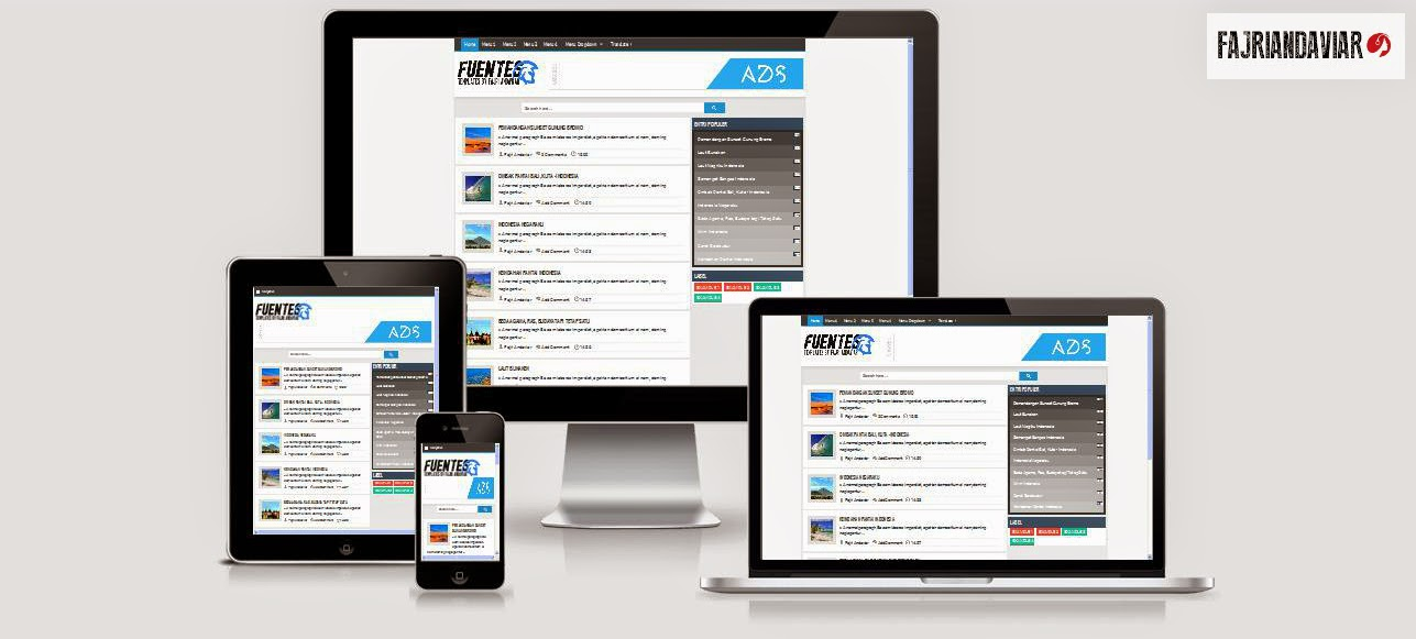 Fuentes Responsive Blogger Template