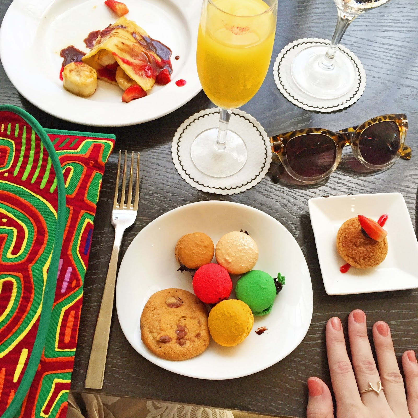 Macaroons and Crepes make the best desserts for Brunch