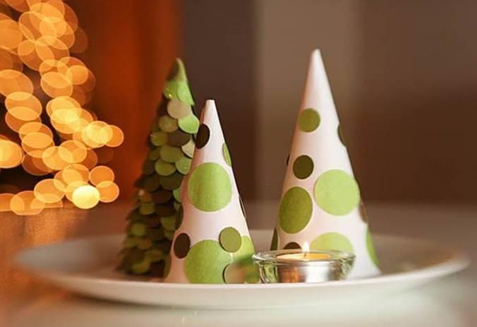 Ateli das oliveiras decora o natalina verde - Adornos mesa navidad caseros ...