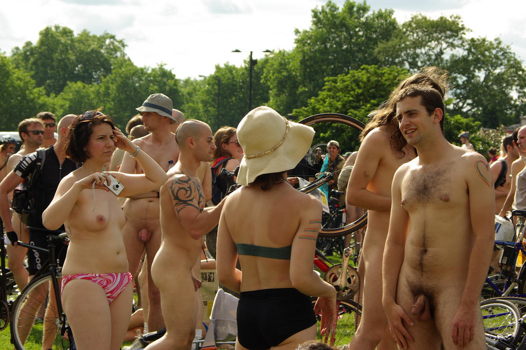 Ride london naked bike cfnm
