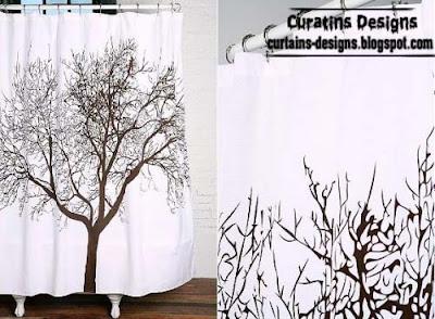 tree shower curtain unique style 30 Creative shower curtains unique designs, styles, photos 2