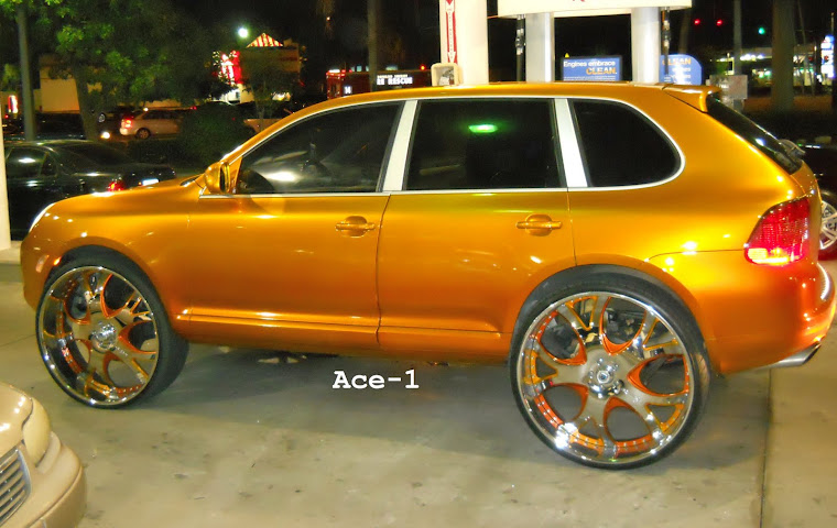 "Candy Gold Porsche Cayenne S on 30"" Asantis"