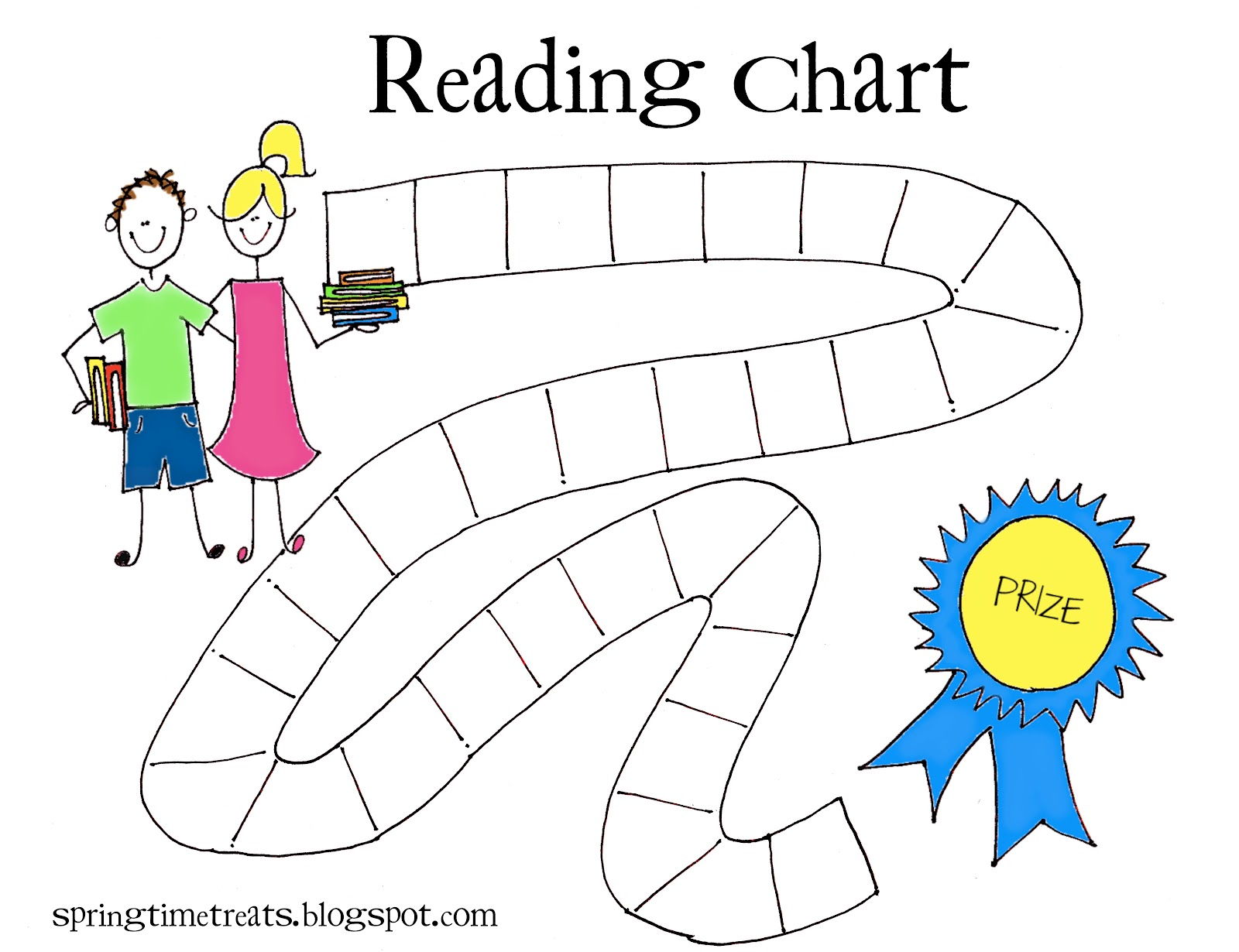 Soft image within printable reading chart