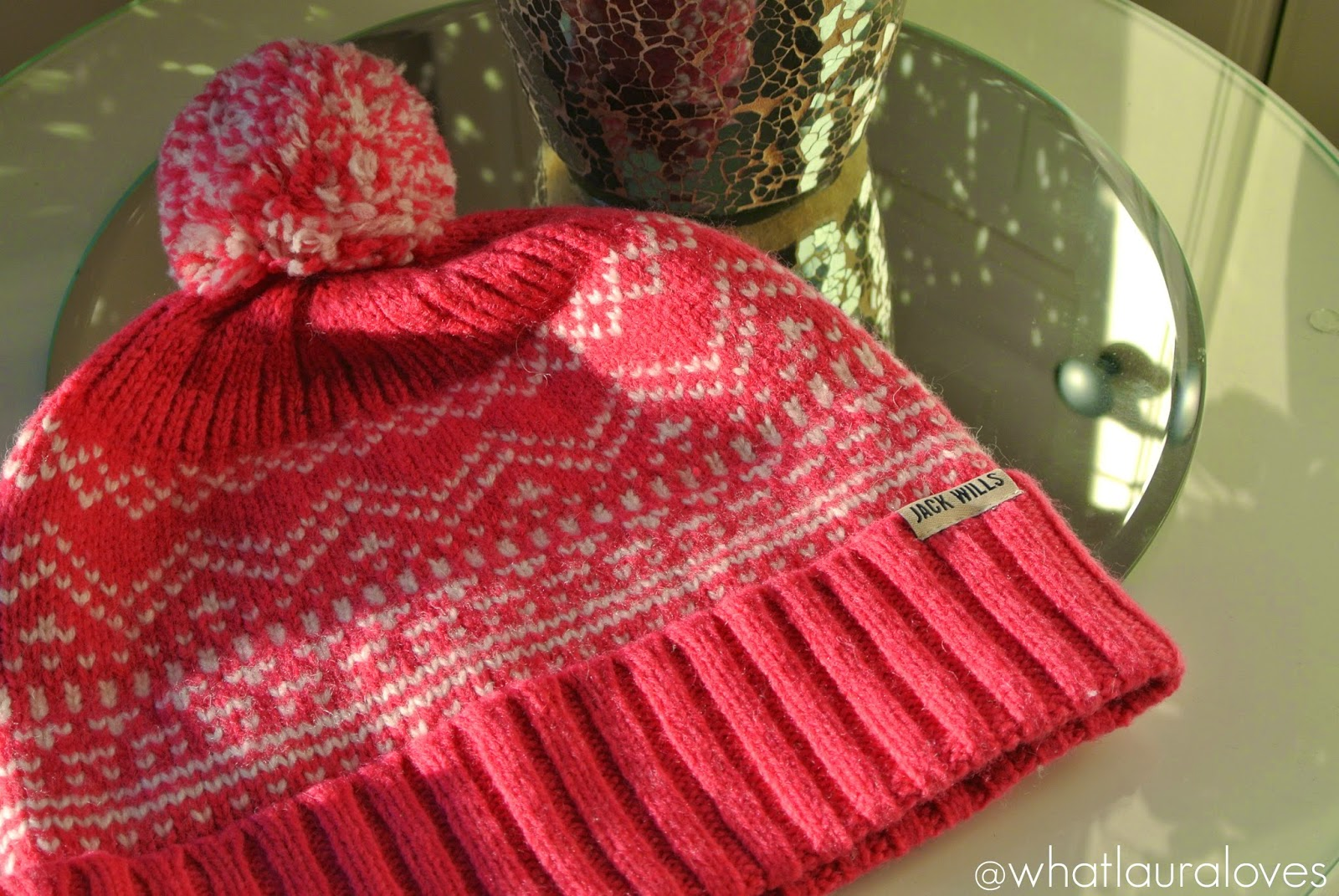 Jack Wills Pink Allwood Hat