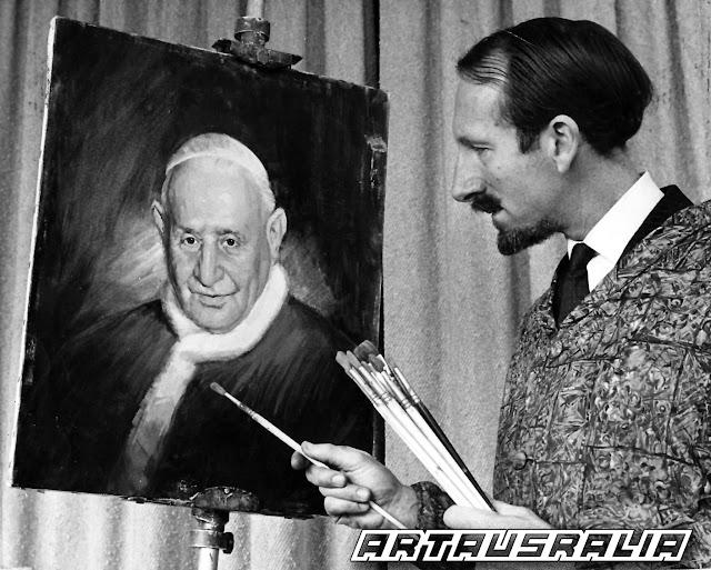 Paul Fitzgerald painting Pope John XXIII