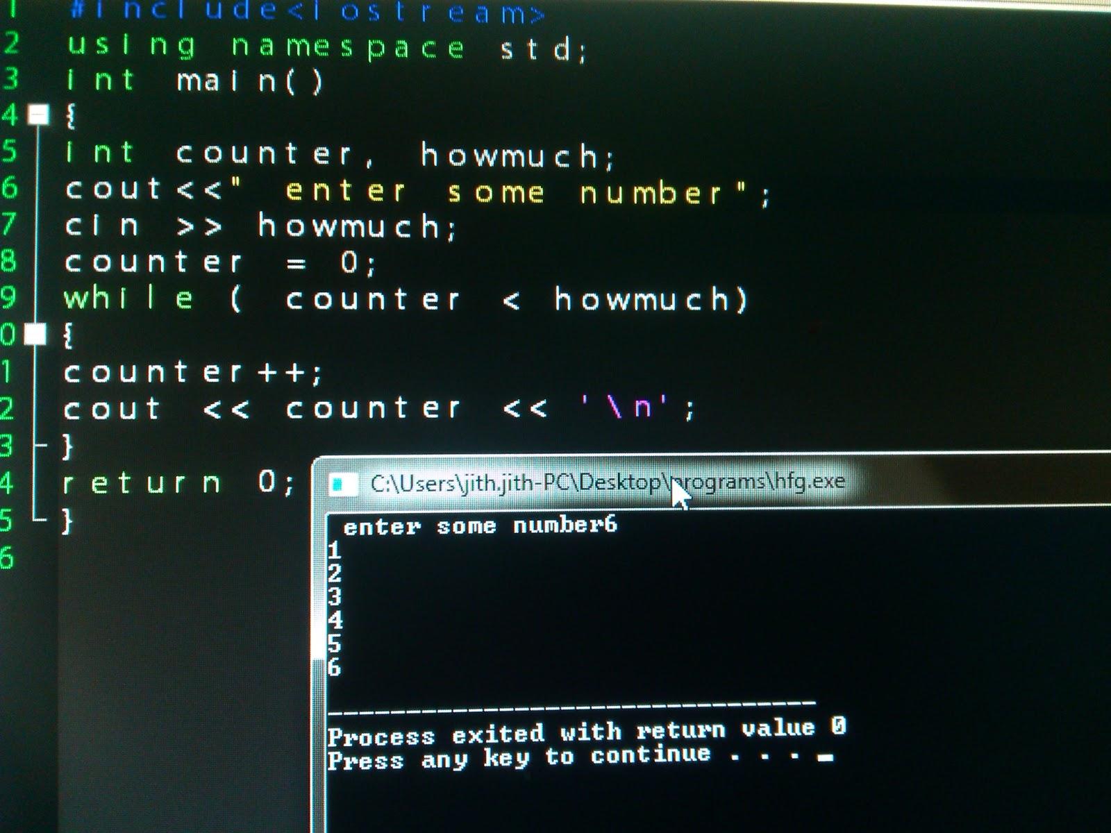 how to make program loop in c++