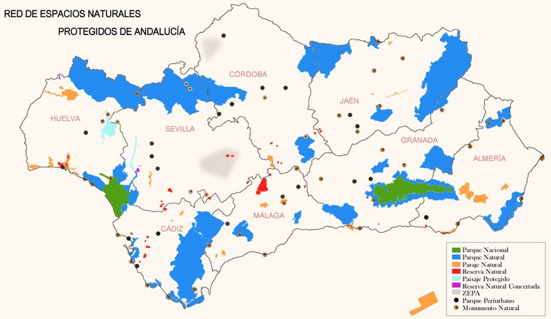 riqueza,Andalucia,superficie,protegida, biologica,especies
