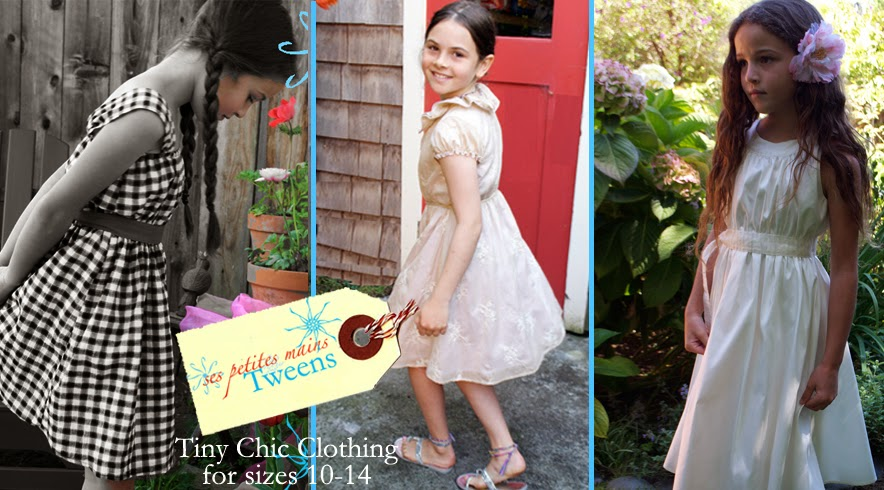 Tween clothing and girl dresses size 10, size 12, size 14 made in San Francisco, USA. Available on-line