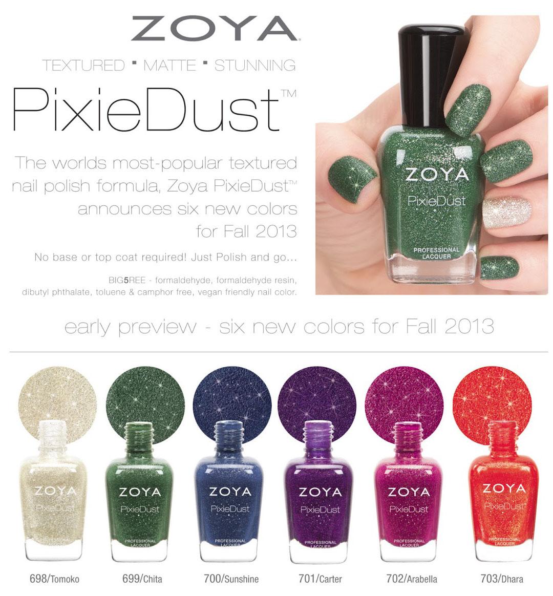 Wacky Laki: Press Release: Zoya PixieDust Fall 2013 Preview