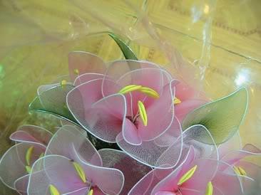 Cách làm hoa vải voan